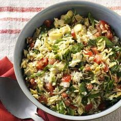 Orzo Vegetable Salad -add some grilled chicken and we have ourselves a one dish meal!