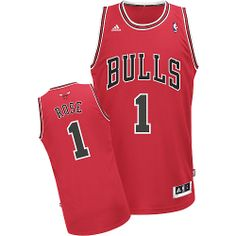 Derrick Rose jersey-Buy 100% official Adidas Derrick Rose Men's Swingman Red Jersey NBA Chicago Bulls #1 Road Free Shipping.