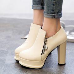 Womens Stylish Platform Bootie Heels