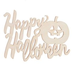 $0.57 - Consumer Crafts - Laser Cut Halloween Words: HAPPY HALLOWEEN Cut Outs, 5 x 3.25 inches