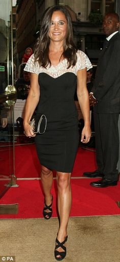 Monochrome maiden: Pippa Middleton attended the UK premiere for Shadow Dancer at Cineworld, Haymarket tonight in a black and white ensemble