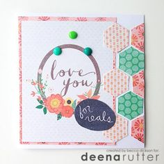 Love You :: hybrid card :: Pixels & Co. Gallery