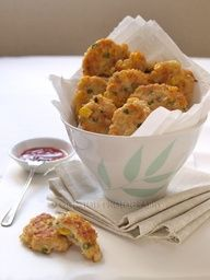 Chicken & corn patties - toddler food