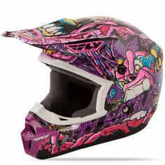 MOTO GEAR Kinetic Jungle Youth Purple/Pink Helmet | FLY Racing | Professional grade Motocross, BMX, MTB, Offroad, ATV, Snowmobile, and Watercraft apparel and hard parts