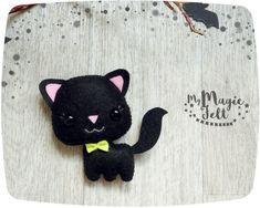 Ornament Halloween cute black cat felt decorations Halloween decor felt…