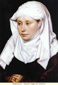 Robert Campin. Portrait of A Woman. c.1430. Oil on wood. National Gallery, London, UK