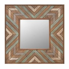 WOODEN WALL MIRROR 76Χ4Χ76 - Wooden - Polyester - MIRRORS