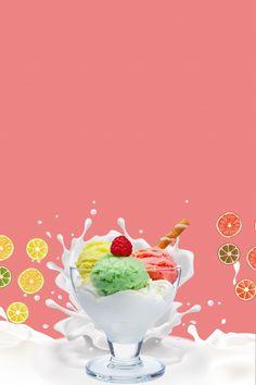 Ice Cream Menu, Ice Cream Logo, Ice Cream Poster, Ice Cream Cart, Watermelon Ice Cream, Fruit Ice Cream, Mango Ice Cream, Summer Ice Cream, Ice Cream Background