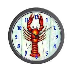 Crawfish Wall Clock on CafePress.com