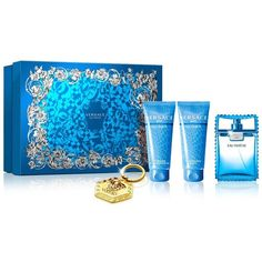 Versace Eau Fraiche Gift Set ($84) ❤ liked on Polyvore featuring beauty products, gift sets & kits and no color