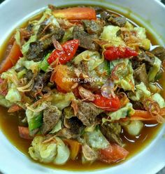 Beef Recipes, Chicken Recipes, Cooking Recipes, Malay Food, Indonesian Food, Dinner Menu, Street Food, Good Food, Food And Drink