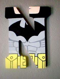 LEGO BATMAN Superhero Personalized Letter Monogram Wall Art Batman Room, Baby Batman, Superhero Room, Batman Superhero, Wooden Name Letters, Diy Letters, Painted Letters, Lego Batman Birthday, Lego Batman Party