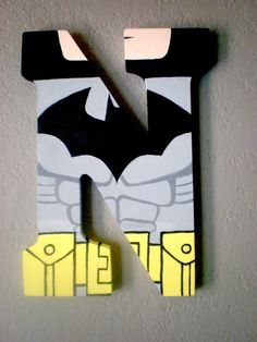 LEGO BATMAN Superhero Personalized Letter Monogram Wall Art