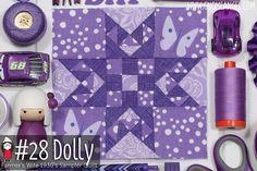 Dolly is Block 28 of Farmer's Wife 1930's Sampler Quilt