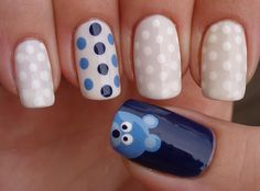 Bear Accent Nails