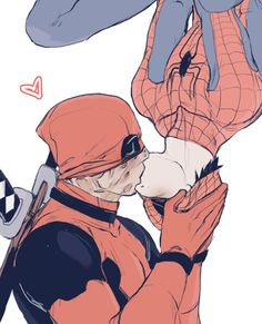hamletmachine:  Little Spideypool *キス* for Mudust's birthday♥ (I love their art!!)