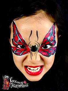When you think about face painting designs, you probably think about simple kids face painting designs. Many people do not realize that face painting designs go Superhero Face Painting, Face Painting For Boys, Face Painting Designs, Face Paint Makeup, Makeup Art, Balloon Painting, Body Painting, Tinta Facial, Spiderman Face