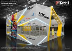step puzzle on Behance Exhibition Stall, Exhibition Booth Design, Exhibit Design, Trade Show Design, Display Design, Display Ideas, Expo Stand, Group Of Companies, Presentation Design