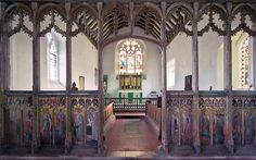 Rood screen in St Giles Church, Houghton St Giles