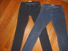 Lot Of 2 Pairs Womens  Junior Forever 21 Black, Blue Jeans, Size 24 #FOREVER21 #StraightLeg