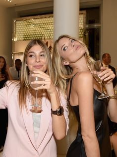 Cami Morrone and Martha Hunt at the Michael Kors party during New York Fashion Week.