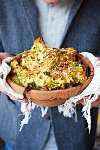 Cauliflower cheese has always been a big favourite in the Oliver household. I have to be honest, it's such a staple I never thought I could do it better, but this version really has the edge, with broccoli mushed into the white sauce and the beautiful crunch of almonds and breadcrumbs on top – it's epic! Good value frozen broccoli and cauliflower are perfect for this kind of cooking, and remember, the better the cheese, the better the dish.