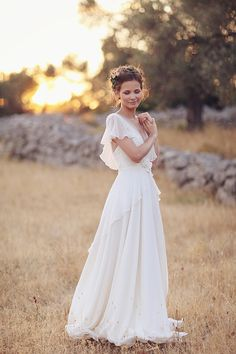 Romantic couples session by Sonya Khegay | Gorgeous dress! (Vilora by Alena Goretskaya) and the crown is simple but beautiful.