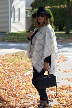 Blanket Scarf: TJ Maxx (similar here ) | Sweater:  French Connection  | Denim:  Banana Republic  | Hat:  Nordst...