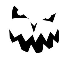 1000 images about stencils on pinterest free printables for Evil face pumpkin template