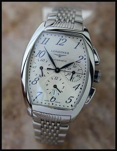 SWISS MEN'S LONGINES EVIDENZA CHRONOGRAPH AUTOMATIC DRESS WATCH w/DATE #luxurywatch #Longines-swiss Longines Swiss Watchmakers watches #horlogerie @calibrelondon