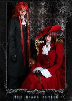 Grell even has the right teeth and glasses, and Madame Red has the front wisp in her bangs. And her outfit doesn't look like cheap crap! This is how Black Butler cosplay should be done! Cool Costumes, Cosplay Costumes, Cosplay Ideas, Grell Cosplay, Anime Cosplay, Madame Red, Best Cosplay Ever, Black Butler Cosplay, Victorian