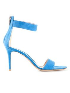 Gianvito Rossi 85mm Classic Sandal - Stockholm Market - Farfetch.com Cobalt blue suede 85mm classic sandal from Gianvito Rossi featuring an open toe, a back zip fastening and a mid-heel. $440