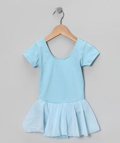 Take a look at this Light Blue Camisole Chiffon Skirt Leotard - Girls by Ballerina Girl on #zulily today!