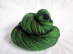 Lothlorien BFL/ Silk Lace Yarn.  Sea Moss.
