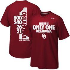 Nike Oklahoma Sooners Only One T-Shirt - Crimson