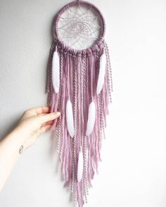 Pink Wall Decoration Pink Dream Catcher Pink Bedroom Decor