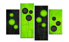 green abstract print art - Google Search