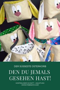Fabric Crafts Easter baskets sewn quickly! – Fabric Crafts Fabric Crafts Easter baskets sewn quickly! Fabric Crafts Easter baskets sewn quickly! Homemade Crafts, Diy And Crafts, Halloween Stoff, Halloween Fabric Crafts, Anniversary Crafts, Legos, Bunny Bags, Diy Gifts For Kids, Easter Baskets