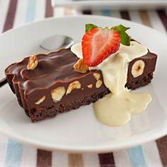 Tart Recipes, Sweet Recipes, Snack Recipes, Dessert Recipes, Kitchen Recipes, Dessert Ideas, Snacks, Chocolate Slice, Chocolate Hazelnut