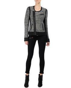 rag & bone Official Store, Samantha Biker Jacket, light grey fl, Womens : Sale : Coats & Jackets, W2256148N $625