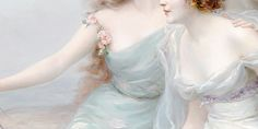 the three graces (1899) by edouard bisson — detail