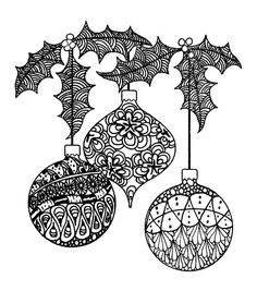 Magenta Zentangle Ornaments Rubber Cling Stamps