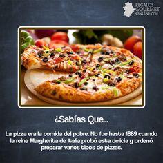 ¿#SabíasQueLa pizza era la comida del pobre?#Curiosidades#Gastronomía