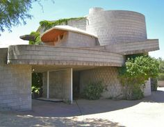 Very sad that the house Frank Lloyd Wright built for his son David is threatened with demolition. Circular Inspiration from Guggenheim Museum