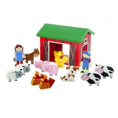 Gorgeous play set of farm yard animals with the farmer and his wife. For ages 12 months and over. Beautifully gift packaged.