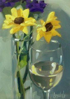 """""""Wino 35"""" - Original Fine Art for Sale - © Brandi Bowman"""