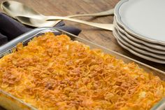 "Cheesy ""Funeral"" Potatoes:  This dish might not have the most appealing name, but the picture of the super-cheesy potatoes can probably speak for itself. The only killer thing about these potatoes is the possibility that you might die of happiness. - Delish.com"