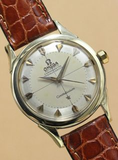 OMEGA Constellation YG/SS Automatic C1950'S #omega #vintageomega #vintagewatch #patina #constellation #horology #horolin