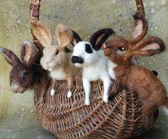 Sarafina Fiber Art - Wonderful, delightful felt animals