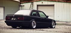 Bagged E30 equipped with some amazing deep Gotti's. SW